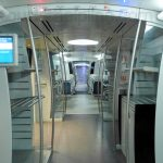 inside Airport Express metro