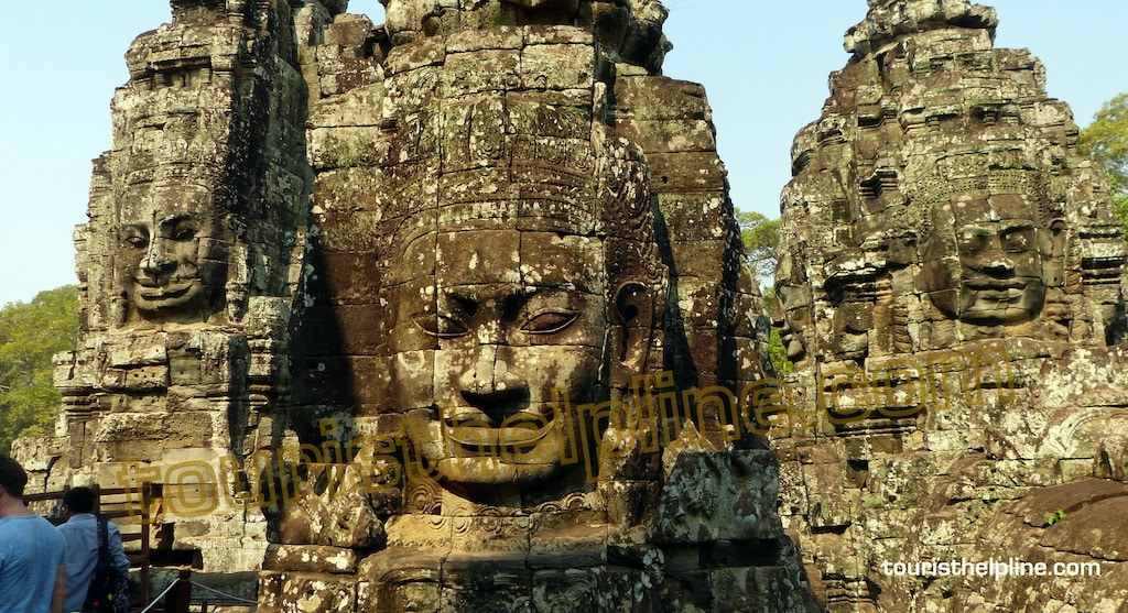 One of the  statues at Angkor Wat