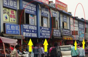 Fraud travel agencies at Paharganj, in front of New Delhi railway station