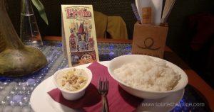 Vegetarian : Rice with Hummus