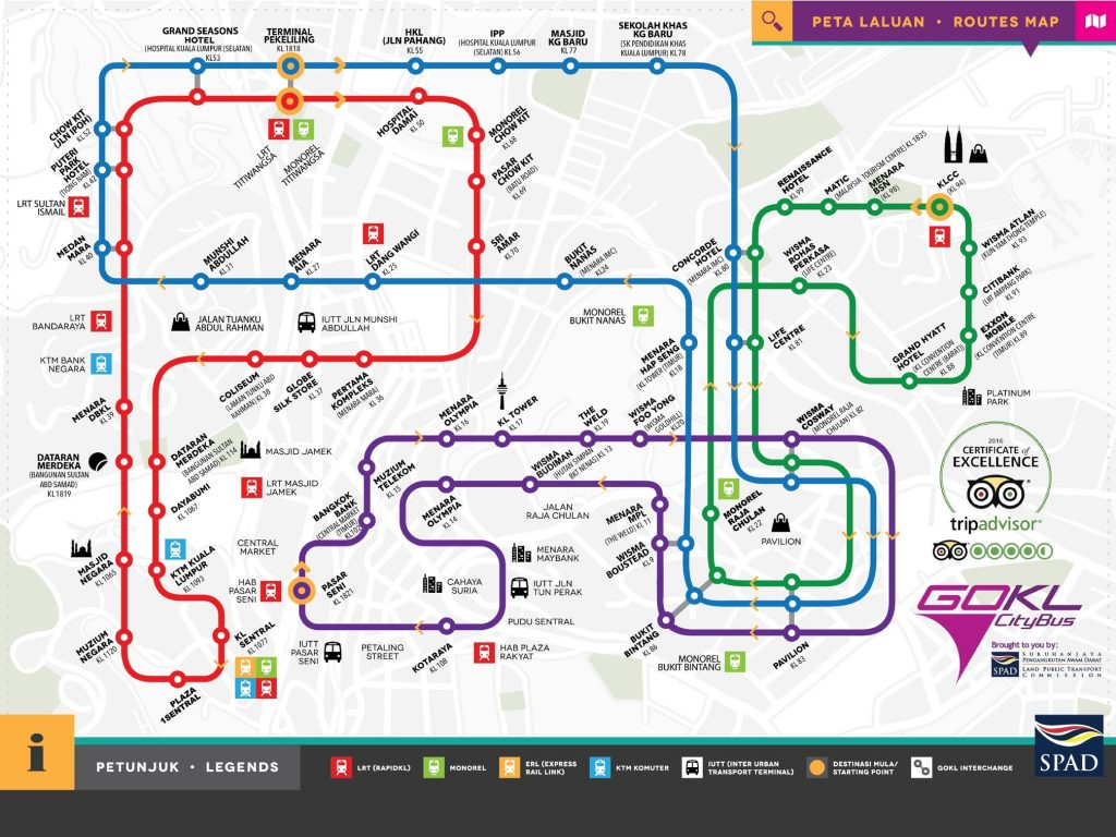 Go KL bus route map