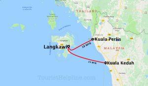 ferry map langkawi