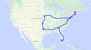 US travel video