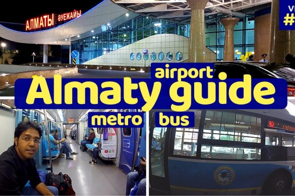almaty guide airport bus metro wifi veg food